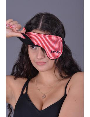 Brýle na spaní červené proužky