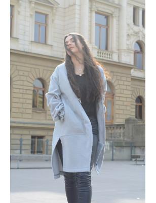 Kabát light Grey