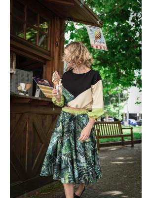Kolová sukně tropik