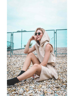 Top s kapuci Béžová